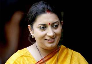 smriti irani refuses to comment on delhi...