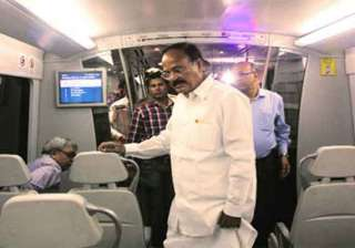 venkaiah naidu to use airport metro from now on -...