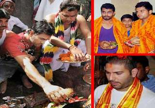 a peek into the religious side of indian team...