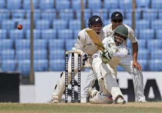 bangladesh hangs on for draw in 1st test vs new...