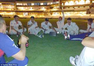 england players celebrate ashes win by urinating...