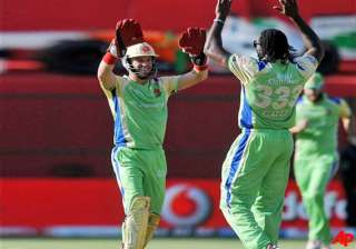 gayle dilshan steer rcb to easy win against kochi...