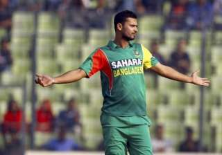mashrafe to lead bangladesh in wc rookie soumya...