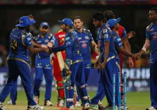 ipl 8 clinical mumbai outplayed rcb for first win...