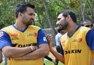ipl 8 zaheer shami still not fit for selection in...