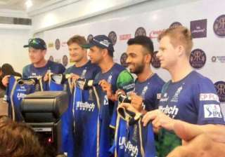 ipl 8 rajasthan royals unveil new jersey - India...