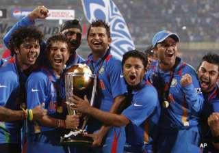 it was fitting that we carried sachin on our...