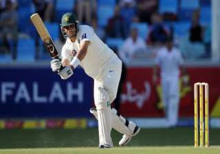 misbah guides pakistan to 429 8 against south...