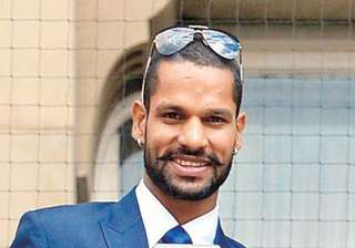 shikhar dhawan bats for canara bank - India TV