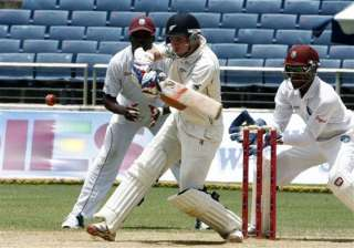 west indies takes 1st innings lead of 239 over nz...