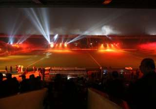 fireworks laser show dazzle at hil opening...