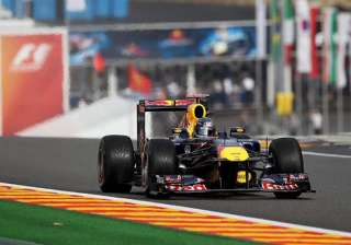 belgium gp f1 vettel leads as red bull dominates...