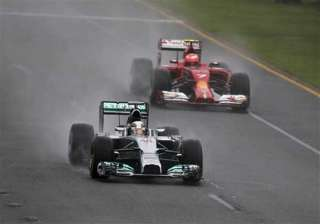 hamilton takes pole at australian gp vettel 12th...