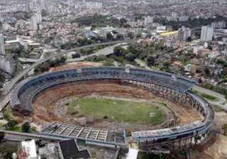 brazilian stadium torn down for new world cup...