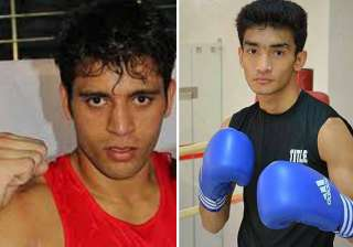 indian boxers bag gold at asian olympic...