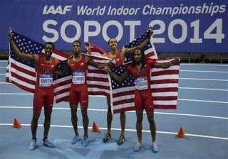 us relay team sets indoor world record for title...