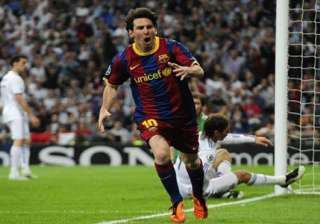 barcelona beat real madrid 2 0 messi scores both...