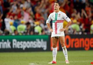 cristiano ronaldo stands by as portugal goes out...