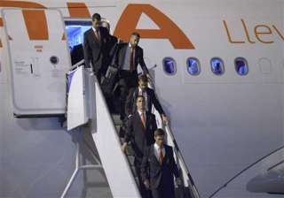 fifa world cup spain lands in brazil to begin...