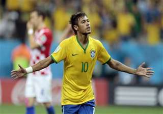 fifa world cup neymar leads brazil to 3 1 win...