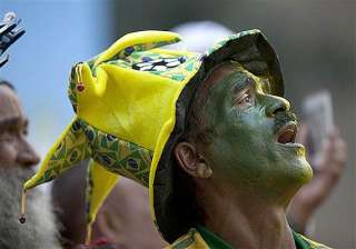 fifa world cup fans putting on a show during...