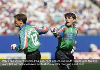 fifa world cup on this day pagliuca becomes 1st...