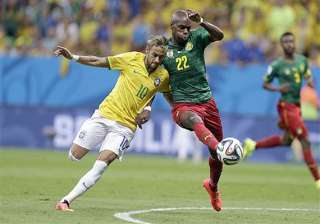 fifa world cup brazil leads cameroon 2 1 at...
