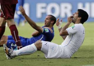 fifa world cup suarez told fifa panel bite was...