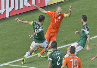 fifa world cup arjen robben falls theatrically to...