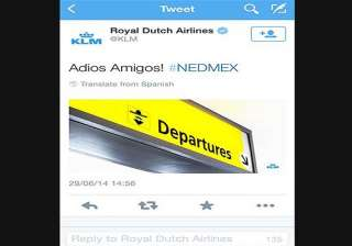 fifa world cup dutch airline carrier bad tweet...