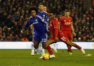 liverpool chelsea 1 1 after 1st leg of league cup...