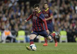 messi hat trick gives barca win at madrid - India...