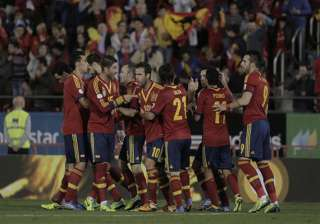 spain a point away from world cup qualification -...