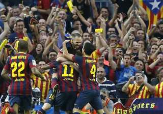 spanish league neymar leads barcelona to 2 1 win...