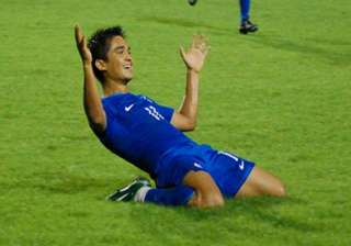 sunil chettri three goals away from bhutia s...