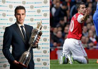 van persie scoops player of year award in england...