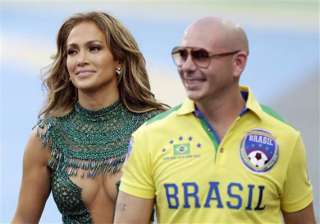 world cup kicks off in style with pitbull and jlo...