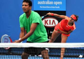 bhupathi sania outsted from aus open mixed...