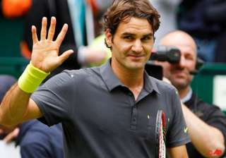 federer reaches 7th halle final faces haas -...