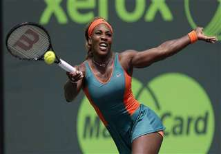 serena williams into 4th round at sony open. -...