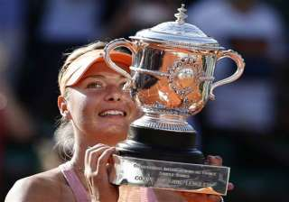 sharapova wins french open for 2nd time - India TV