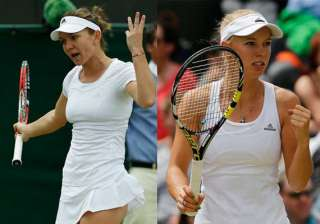 wimbledon halep wozniacki advanced to third round...
