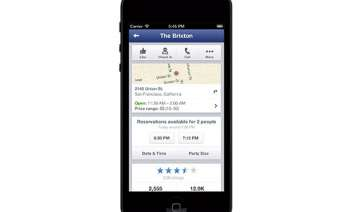facebook to offer opentable restaurant bookings...