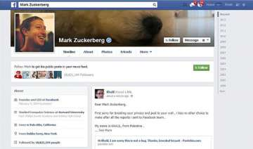 mark zuckerberg facebook profile page hacked -...