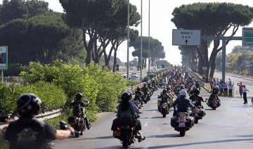 harley davidson s 110th anniversary party in rome...