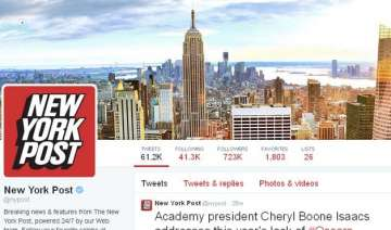 twitter accounts of new york post and news agency...