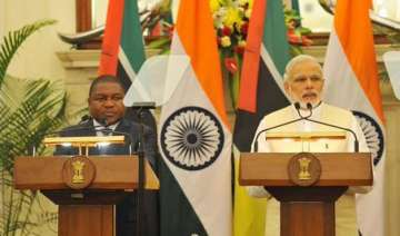mozambique president meets pm modi seeks greater...
