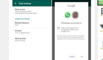 whatsapp now lets you backup conversations to...