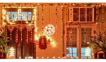 india shining with chinese lights on diwali -...