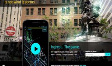 ingress the new augmneted reality game by google...